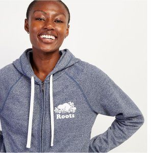 Roots Canada Blue Peppered Zip-up Hoodie